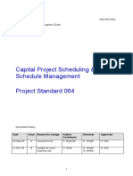 Capital Project Scheduling and Schedule Management