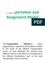 Transportation and Assignment Model-LP