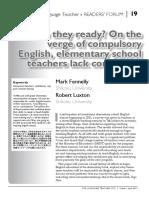 Fennelly & Luxton (2011) Element school teachers ready for Eng