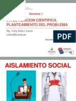 SESION 1-INVESTIGACIÓN CIENTÍFICA Y PLANTEAMIENTO DEL PROBLEMA