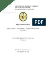 Ensayo Sobre Evolución de la Teoría de la Regulación Económica