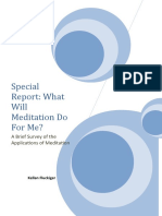 Special Report on Applications of Meditation
