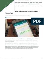 Aprenda a colocar mensagem automática no WhatsApp.pdf