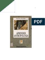LAPLANTINE, François - Aprender Antropologia