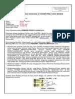 Contoh Pengisisan Surat Persetujuan Dan Kuasa Autodebet Pembayaran Minimum Kartu Kredit