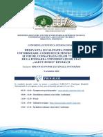Conferinţa Ştiinţifică Internaţională RELEVANŢA ŞI CALITATEA FORMĂRII UNIVERSITARE
