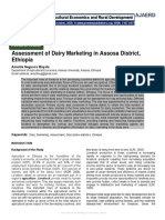 Assessment of Dairy Marketing in Assosa District, Ethiopia