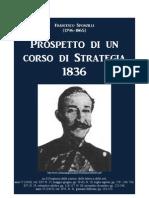 SPONZILLI Francesco. Lessons on Strategy. Naples 1836