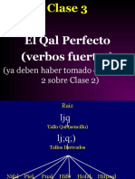 Clase 3  Qal Perfecto--verbos fuertes