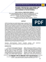SECONDARY TEACHERS' PREPARATION, CHALLENGES, AND COPING MECHANISM IN THE PRE-IMPLEMENTATION OF DISTANCE LEARNING IN THE NEW NORMAL