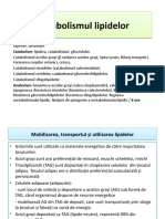 curs 9 si 10 Metabolismul lipidelor
