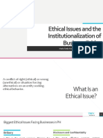 Ethical Issues and the Institutionalization of Business Ethics.pptx