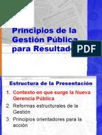 Principios de la Gestion Publica por Resultados
