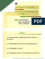 Mkt.Estr.2018 Tema 2 Estrategias de producto y marca