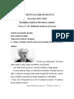 a_romana_testare_sumativa_clasa_a_va