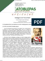 Daniel Miguel López Rodríguez, Heidegger en el Tercer Reich, El Catoblepas 114_13, 2011