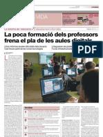 La poca formació del professorat frena el pla de les aules digitals