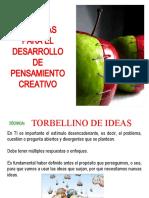 TECNICAS PARA EL DESARROLLO DEL PENSAMIENTO CREATIVO.ppt