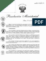 Resolución Ministerial N° 801-2020-MINSA