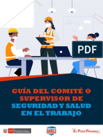 Guía del Comité o Supervisor de Seguridad y Salud en el Trabajo
