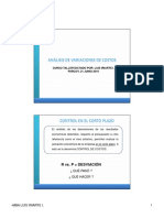 CURSO TALLER - ANALISIS DE COSTOS - DESVIACIONES