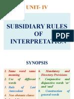 SUBSIDIARY RULES-I
