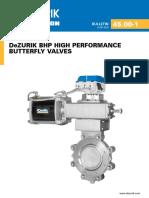 DeZURIK BHP HIGH PERFORMANCE BUTTERFLY VALVES