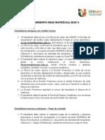 Procedimiento Matrícula 2020-2