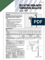 Tlv Tc1 Self Acting Temperature Regulator Flanged