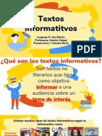 TEXTOS INFORMATIVOS 6tos