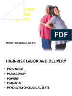 HIGH -  -¶ RISK LABOR AND DELIVERY 2