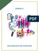 UNIDAD 4 VALORACION DE PUESTO