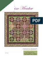 Alpine Meadow Quilt Pattern