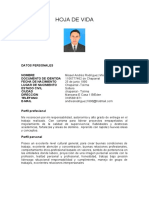 HOJA DE VIDA ANDRES RODRIGUEZ