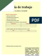 GUIA DE TRABAJO ETICA  Y MORAL