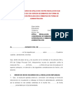 82.MODELO RECURSO CONTRA RESOLUCION QUE ADMITE PEDIDO DE CONVERSION DE EMBARGO EN FORMA DE INTERV.doc