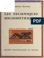 Techniques sociometriques