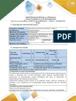 Guìa de actividades y rùbrica de evaluaciòn - Fase 5 - Evaluación final por POA
