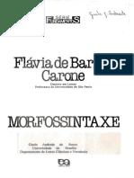 Flávia Barros Carone - Morfossintaxe