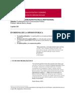 EN DEFENSA DE LA OPINION PUBLICA.