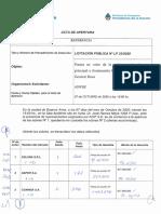 Acta Apertura Licitacion La Plata