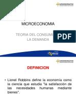 MICROECONOMIA - TEORIA DEL CONSUMIDOR - LA DEMANDA