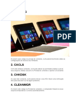 COMANDOS USADOS NOS PCs