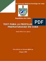 Test para la profilaxis de la p - Cruz Laguna, Gladys Maria