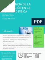IMPORTANCIA DE LA HIDRATACIÓN EN LA ACTIVIDAD FÍSICA