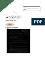 Worksheet app letter 2