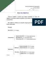 Ficha de revisões de Português - Grau dos adjetivos -