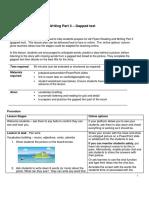 [Online teaching] A2 Flyers Reading Part 3 gapfill