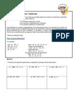 JERARQUÍA DE OPERACIONES Y PARÉNTESIS
