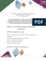 Anexo 3. Guía lectura de Referentes Teóricos